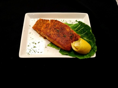8 oz Blackened Salmon - Cooked to perfection