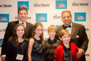 Joseph and Anthony with the actors at opening night of Mary Poppins, November 2014.